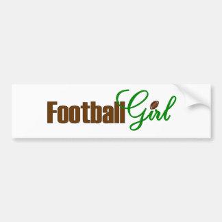 Football Girl Bumper Sticker