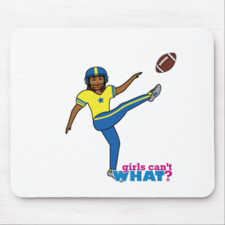 Football Girl Mouse Pad