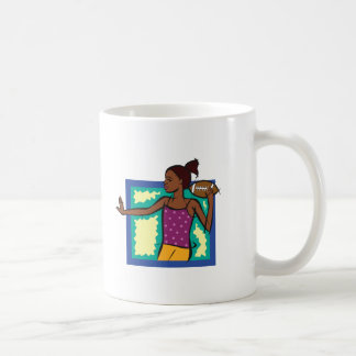 football girl mug