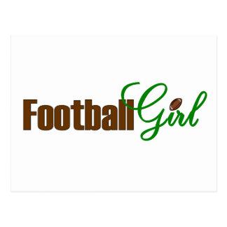 Football Girl Postcard