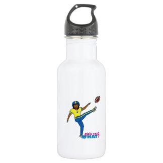 Football Girl Stainless Steel Water Bottle