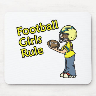 Football girls rule! mouse pad