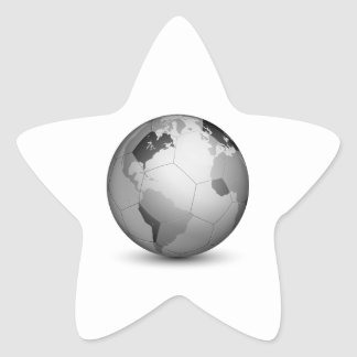 Football Globe_2 Star Sticker