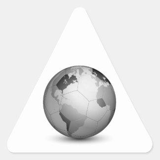 Football Globe_2 Triangle Sticker