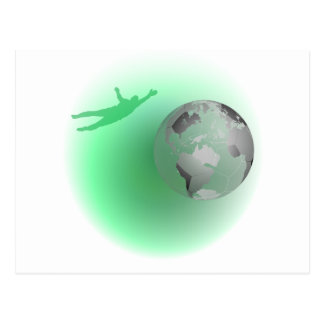 Football Globe Postcard