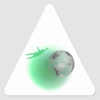 Football Globe Triangle Sticker