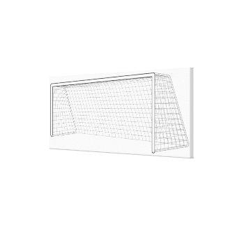 Football goal 3 canvas print