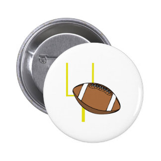 Football Goal Pinback Buttons