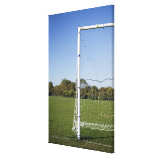 Football goal canvas print