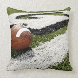 Football Goal Line Throw Pillow