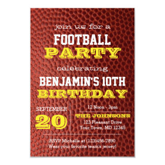 Football Gold All Occasion Invitation