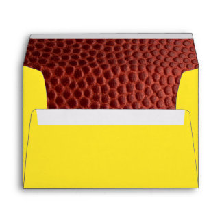 Football Gold Personalized Envelope