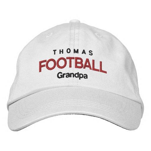 FOOTBALL GRANDPA Personalized Adjustable Hat V07D Embroidered Baseball Cap