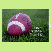 Football Grandson Birthday Card