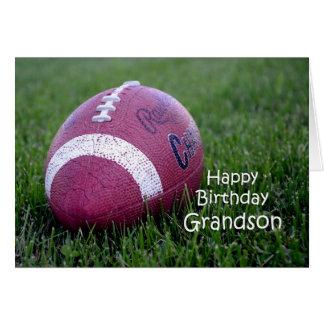 Football Grandson Birthday Greeting Card