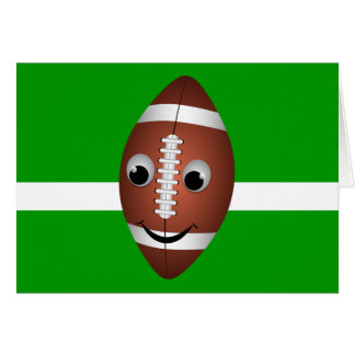 Football Graphic Character Greeting Card