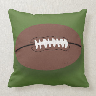 Football Graphic Throw Pillow