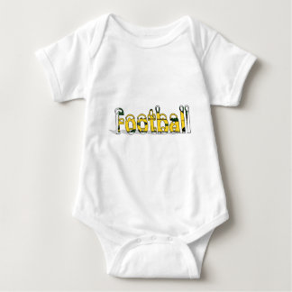 Football Green and Gold Baby Bodysuit