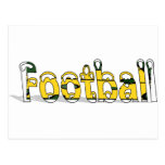 Football Green and Gold Post Card