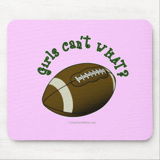 Football - Green Text Mouse Pad