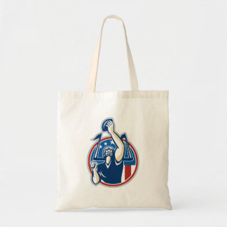 Football Gridiron Player Goal Post Tote Bags
