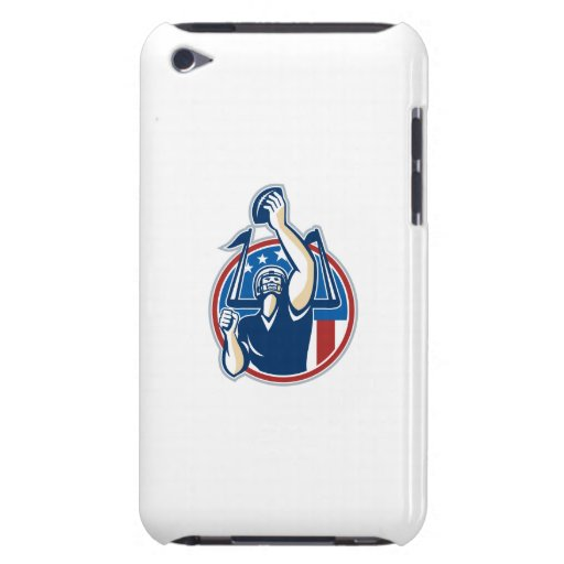 Football Gridiron Player Goal Post iPod Touch Cases
