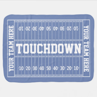 Football Gridiron Your Text and Color Swaddle Blanket