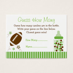 Football Guess How Many Cards at Zazzle