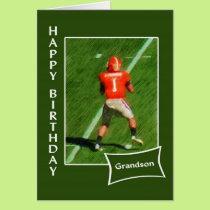 Football - Happy Birthday Grandson Card