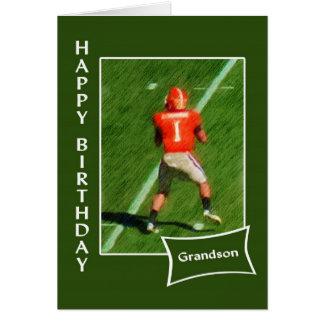Football - Happy Birthday Grandson Greeting Card