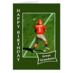 Football - Happy Birthday Great Grandson Greeting Cards