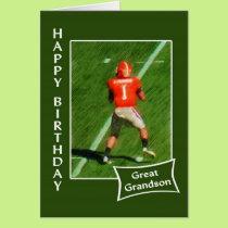 Football - Happy Birthday Great Grandson Card