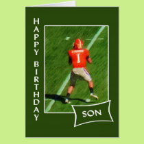 Football - Happy Birthday Son Card