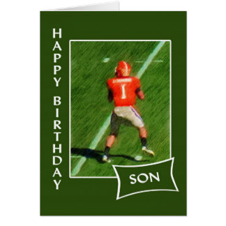 Football - Happy Birthday Son Card