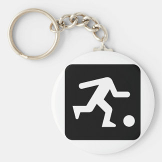 football head_WHITE Keychain