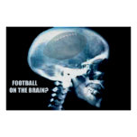Football Head (x-ray) Poster