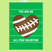 Football Heart Sports Fan Valentine's Day Card