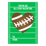 Football Heart Sports Fan Valentine's Day Large Business Card