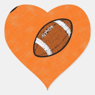 Football Heart Sticker