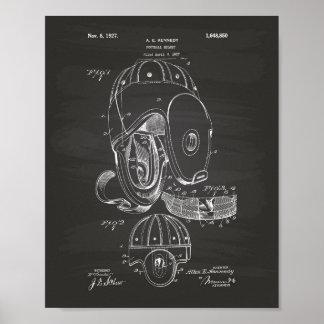 Football helmet 1927 Patent Art  - Chalkboard Poster