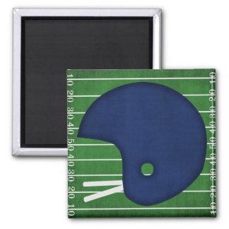 Football helmet 2 inch square magnet