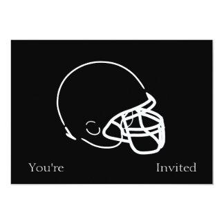 Football Helmet 5x7 Paper Invitation Card