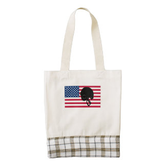 Football Helmet American Flag Zazzle HEART Tote Bag