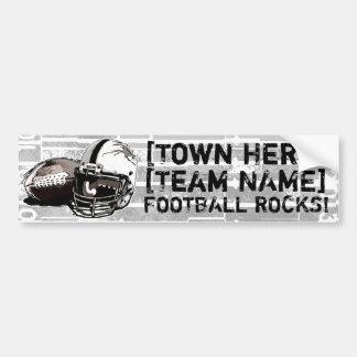 Football Helmet and Pigskin Car Bumper Sticker