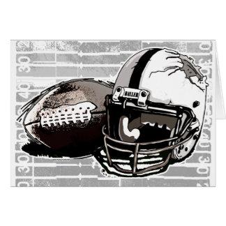 Football Helmet and Pigskin Greeting Card