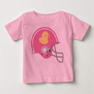 Football Helmet Baby Girl Tee Shirt