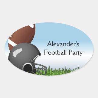 Football Helmet/Ball Oval Sticker