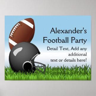 Football Helmet/Ball Poster