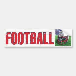 Football Helmet Bumpersticker Bumper Sticker