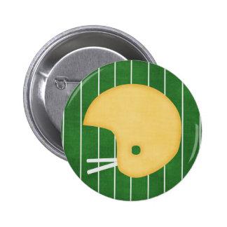Football helmet 2 inch round button